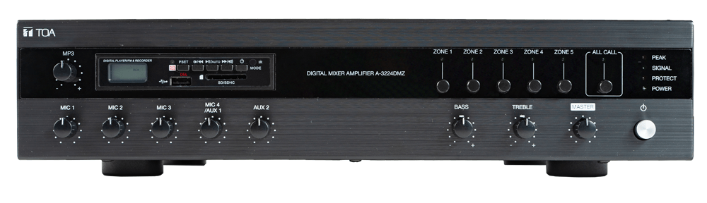 A-3224DMZ Digital Mixer Amplifier with MP3 and Zones